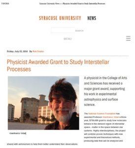 SU News article snip